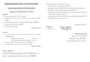 Sprawozdanie finansowe za rok 2012